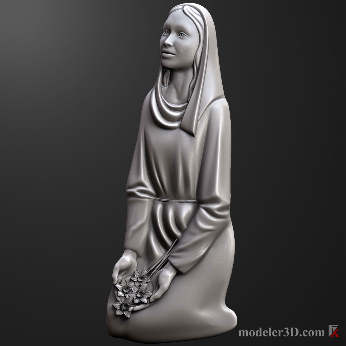 Святая Дева (Holy Virgin woman monument for cnc)