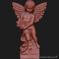 3d модель ангела для cnc (Angel for cnc)
