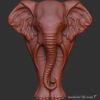 Слон рельеф для для чпу elephant Sculpture for CNC
