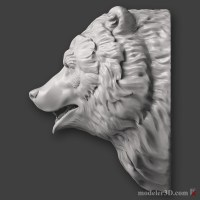 Голова медведя (Bear head Sculpture)