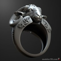 ram Head ring 3D print model